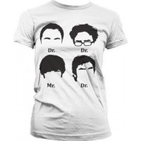 Big Bang Theory Prefix Huvud Girly T-Shirt