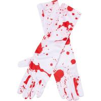 Långa Handskar Blodiga