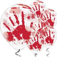 Ballonger Blodiga Händer 6-pack