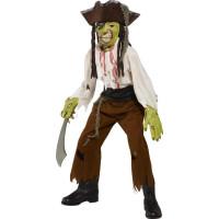Pirat med avskuren hals-dräkt barn