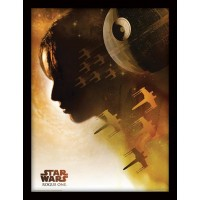 Star Wars Rogue One Poster Inramad Jyn