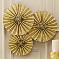 Stor Cirkel Guld 3-pack