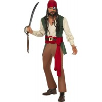 Karibisk full pirat-dräkt