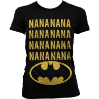 NaNa Batman Girly T-Shirt (Svart)