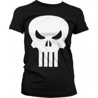The Punisher Skull Girly T-Shirt (Svart)