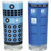 Doctor Who Dalek Och Tardis Glas