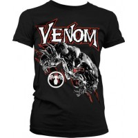 Venom Girly T-Shirt (Black)