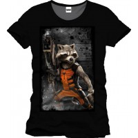 Guardians of the Galaxy T-shirt Raccon Maskingevär