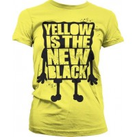 Yellow Is The New Black Girly T-Shirt (Yellow)